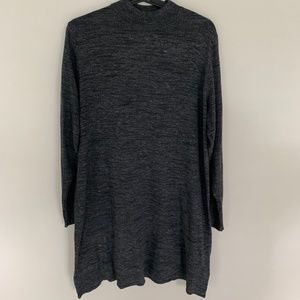 H&M Basic Mock-Neck Long Sleeve Gray Tunic Sweater
